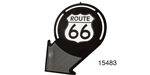 Route 66 Arrow Sign, Black