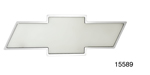 1955-1957 Chevy Bowtie Inside Rear View Mirror, Brushed Aluminum