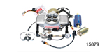 Professional Products Chevy Powerjection™ III Fuel Injecton System, Complete Kit, Satin Finish