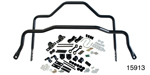 Hellwig 1955-1957 Chevy Front 1-1/4'' and Adjustable Rear 1'' Sway Bar Kit, Black (OS)
