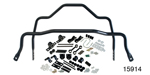 Hellwig 1955-1957 Chevy Front 1-1/4'' and Adjustable Rear 1'' Sway Bar Kitr, Spring Pocket Kit, 1'' Diameter, Black