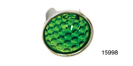 Danchuk Chevy 15/16'' Glass Dot, Smooth, Green. Pair