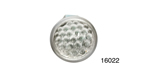 Danchuk Chevy 5/8'' Reflector, Smooth, Clear, Pair