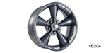 American Legend Chevy ''Streeter'' Wheel, Grey, 17 x 7 w/ Center Cap and Lug Nuts