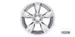 American Legend Chevy ''Streeter'' Wheel, Polished, 17 x 7 w/ Center Cap and Lug Nuts