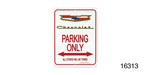 Classic Chevy Parking Sign, Gold Crest ''Chevrolet''