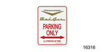 Classic Chevy Parking Sign, Gold Vee ''Bel Air''