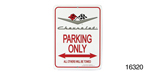 Classic Chevy Parking Sign, Silver Vee ''Chevrolet'' w/Flags