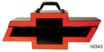 Chevy Portable Tool Box, Black w/ Red Bowtie Logo