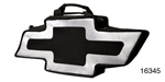 Canvas Bag, Black and Silver w/Chevrolet Bow Tie Logo