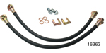 1955-1957 Chevy Rubber Front Disc Brake Hose, 16'', 10mm Banjo Fitting