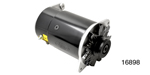 1955-1957 Chevy Powermaster PowerGen Alternator, 90 Amp w/ Lamp Terminal, Short, Black