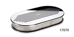 Billet Specialties Chevy Large Oval Ball Milled and Polished Air Cleaner