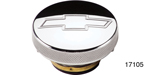 Billet Specialties Chevy Polished Billet Radiator Cap w/ Bowtie, 16lb
