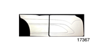 Stitchcraft Interiors 1955-1957 Chevy Custom Interior Door Panel Kit, 4-Door, Design 3