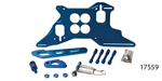 Lokar Chevy Push/Pull Throttle Cable Bracket and Return Spring Kit for 4150 Style Carburetor, Blue