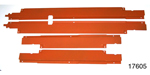 1955-1957 Chevy Wire Harness Door Sill Covers, 4-Door Sedan & Wagon, Set of 4