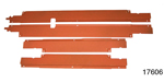 1956-1957 Chevy Wire Harness Door Sill Covers, 4-Door Hardtop, Set of 4