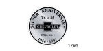 1956 Chevy Silver Anniversary Window Decal