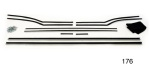 Danchuk 1955-1957 Chevy Window Fur Channel Weatherstrip Kit, Convertible (Best)