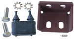 1955-1957 Chevy Lower Tailgate Bumper Bracket w/ Bumper & Hardware, Nomad, Wagon & Sedan Delivery