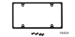 Billet Specialties Chevy Billet Slim-Line License Plate Frame, Black