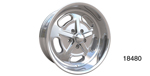 American Legend Chevy ''Racer'' Wheel, Polished, 17 x 8