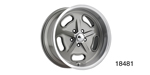 American Legend Chevy ''Racer'' Wheel, Light Grey, 18 x 7