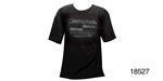 Danchuk Logo Chevy Tee Shirt, Black w/ Front Logo, Small