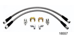 Wilwood Chevy Front Disc Brake Stainless Braid Flexline Kit, Pair