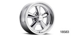Cragar Chevy Series 610C G/T Wheels, 15 x 7, Chrome
