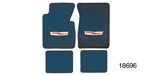 1955-1957 Chevy Floor Mats w/ Embroidered Crest Logo, Blue Loop, Set