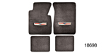 1955-1957 Chevy Floor Mats w/ Embroidered Crest Logo, Gray Loop, Set