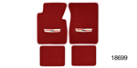 1955-1957 Chevy Floor Mats w/ Embroidered Crest Logo, Red Loop, Set