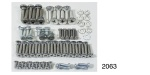 1955-1957 Chevy Tailgate and Liftgate Fastener Set, Nomad
