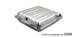1955-1956 Chevy Original Design Gas Tank, exc. Nomad, Wagon & Sedan Delivery, 16-Gallon (Best) (OS)