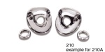 Danchuk 1955-1956 Chevy Windshield Wiper Escutcheons (exc. 1955-150)