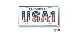 Chevy ''USA-1'' License Plate