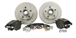 1955-1957 Chevy Standard Front Disc Brake Conversion Component Kit, Dropped Spindles (OS)