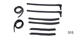 1955-1957 Chevy Convertible Top Weatherstrip Set, 8-Piece