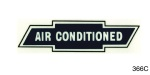 1955-1957 Chevy Air Conditioned Window Decal