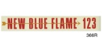 1955 Chevy 6 Cylinder w/ Standard Transmission ''Blue Flame 123''  Valve Cover Decal