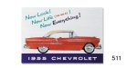 1955 Chevy Car Color Sales Brochure