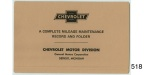 1955-1970 Chevy Mileage And Maintenance Schedule Folder